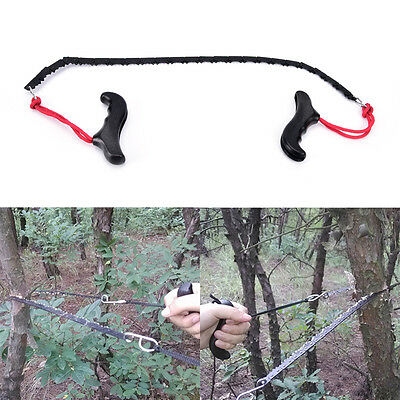 Camping hiking emergency survival hand tool kit gear pocket chain saw chainsaw S