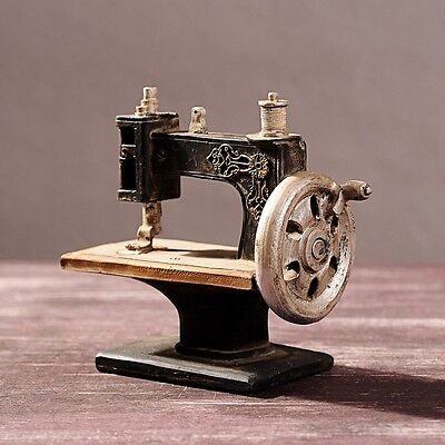 Vintage Resin Sewing Machine Figurines Mini Sewing Model Statue Home Sheft Decor