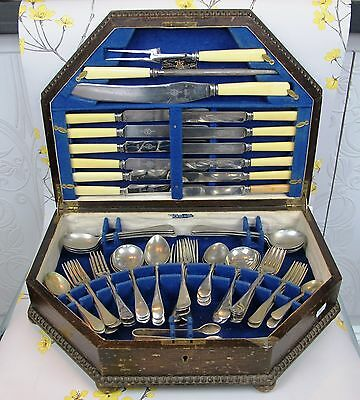 Vintage VINERS OF SHEFFIELD Cutlery Canteen. Nickel-Bright Stainless. Set for 6.