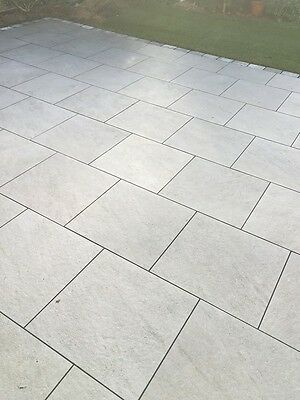 Iron Silver Stone Porcelain Patio Garden Paving Slab | 600x600 Pack | 23.04 sqm