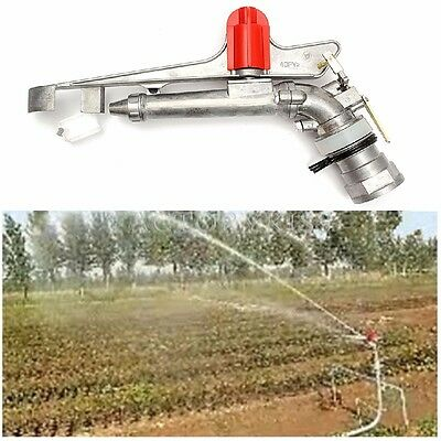 2.2'' 360° Irrigation Spray Gun Adjustable Impact Sprinkler Gun Large Area Water