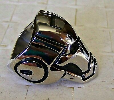 Size:10 ~ Robot  - Head ~ Stainless_Steel  ~ Ring -- (Great_Christmas_Gift)