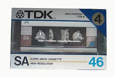 cassette audio TDK sa 46 , ( pack 4 cassette audio ) !