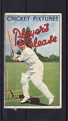 Cricket Fixture List 1939