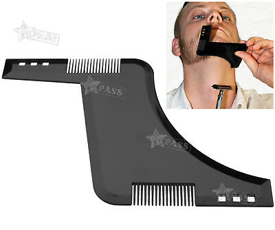 Beard Shaping Template Comb Symmetry Trimming Shaper Stencil Styling Barber Tool