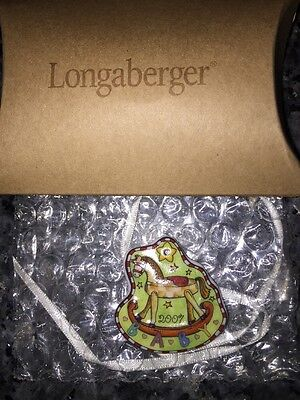 2007 Longaberger Tie-On Baby Ceramic Rocking Horse Star NEW For YOU! 23460