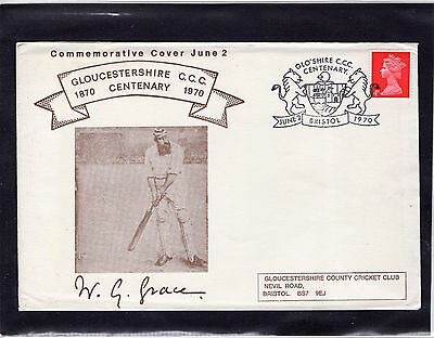 Cricket Cover 1970 Gloucestershir Centenary