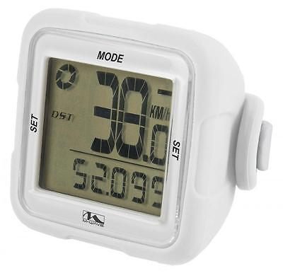 M Wave XIV Bike Cycle 14 Function Wireless Digital Computer Silicone White CP711