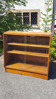 A Stylish Retro Mid Century Teak Glazed Fronted Bookcase/Shelving Unit Compact