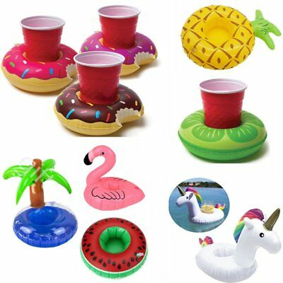 Party Cute Inflatable Swim Hot Tub Floats Cup Holder Summer Pool Drink Holder