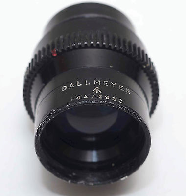 "Rare Dallmeyer TELEPHOTO 3"" inch 75mm f3.5 LENS not super-six 16mm exRAF #486674"