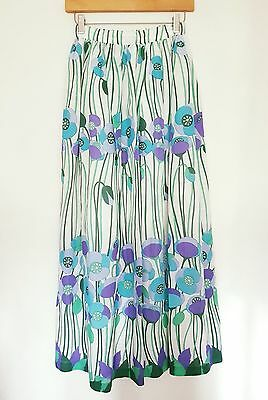 """Stunning vintage maxi skirt by Jane Colton (24"""" waist 40"""" in length)"""