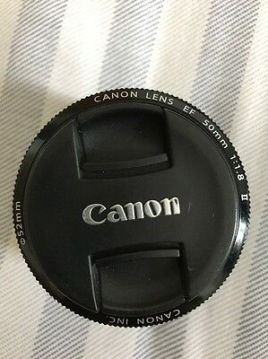 NEW Boxed Canon EF 50mm F/1.8 II Lens FREE P&P