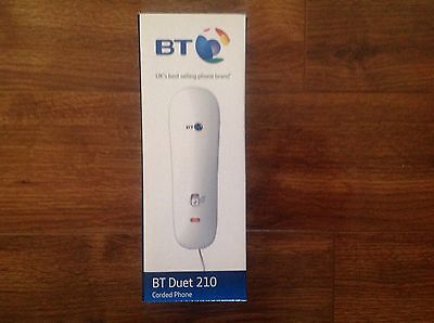 BNIB BT Duet 210 Wall Mountable 10 Number Memory Corded Phone White