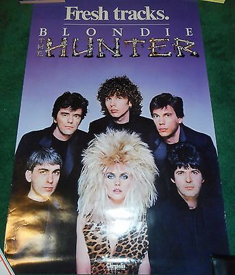 Blondie - The Hunter - Original Ss Promo Poster - Debbie Harry