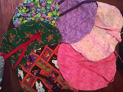 Women's Surgical Scrub Hats Lot Of 6