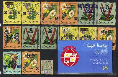 Guyana U/m Surch Selection Incl Booklet