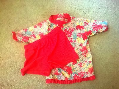 Swim Set Girls Pink/floral Top & Shorts by Young Dimension