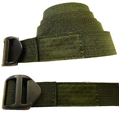 Utility Strap Self Locking Olive Strap IRR Treated plastic buckle ~  10 Pack