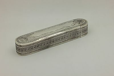 Antique Original Silver Persian Amazing Heavy Pen Container Box