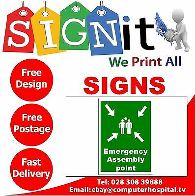 Emergency Assembly Point Sign, Sticker, Correx Plastic Or Aluminium Sign - C008
