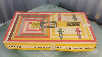 Vintage Neglin Christmas Lights In Box