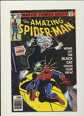 Amazing Spider-Man #194 (1979 Marvel) 1st App Black Cat! SEE PICS AND SCANS! WOW