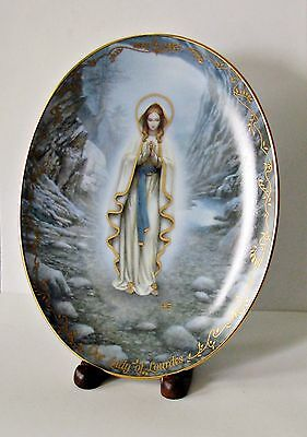 """Our Lady of Lourdes"" Bradford Exchange (1994) ""First Issue"" Collector's Plate!"