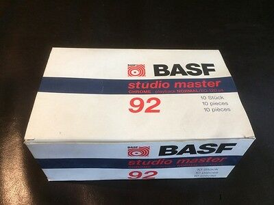 BASF Studio Master Chrome Kassetten Cassetten C92 Tapes 10 Stück in OVP