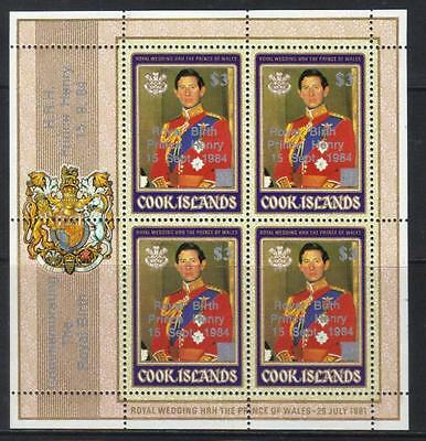 Cook Islands 1984 Birth Of Prince Henry Sg1007 U/m S/s Cat £18