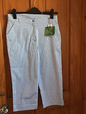 Ladies Cropped Golf Trousers Size 12
