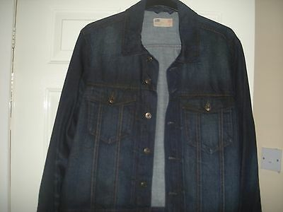 mens  north coast denim jacket size xl