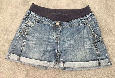 Yes Yes New Look Denim Underbump Maternity Shorts Size 8