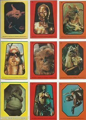 Star Wars Return of the Jedi - Complete Card Sticker Set (1-33) 1983 @ Near Mint