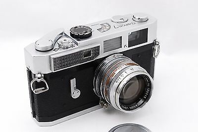 [Exc+++] Canon 7 35mm Rangefinder Film Camera + 50mm f/1.8 L39 Leica From Japan