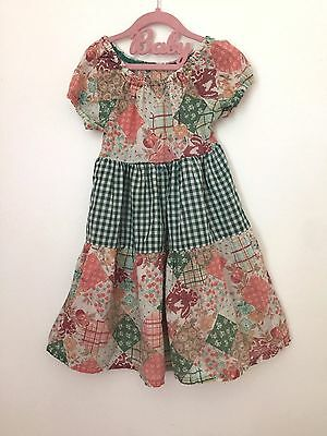 Vintage 1970s Handmade Patchwork Holly Hobby Prairie Square Dance Girls Dress