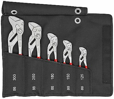 Knipex 00 19 55 S4 5 Piece Plier Wrench Set 86 03 125 150 180 250 300 Tool Roll
