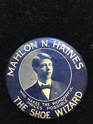Antique Vintage Celluloid Advertising Pocket Mirror- M.Haines the Shoe Wizard