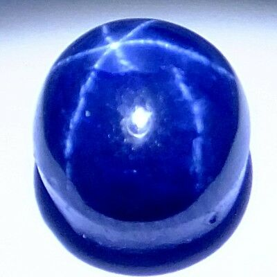 NATURAL AMAZING 6rays BLUE STAR SAPPHIRE GEMSTONES (10 x 8.2 mm) OVAL SHAPE