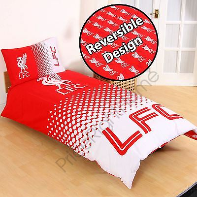 Liverpool Fc Fade Single Duvet Cover And Pillowcase Set Official Football Team
