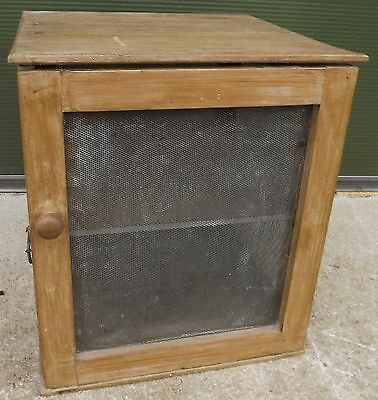 Antique Victorian Wooden Meat Safe With Metal Mesh Sides Nice Country Piece