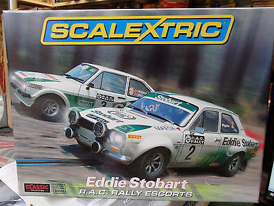 Scalextric C3369A Classic Rallycross Eddie Stobart Rac Rally Escorts  New !