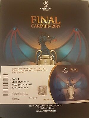 Champions League Final Ticket 2017 Real Madrid Juventus