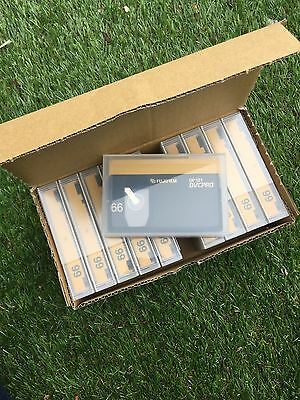 Box of 10 video dp121 dvcpro tapes fuji film 66 new unused