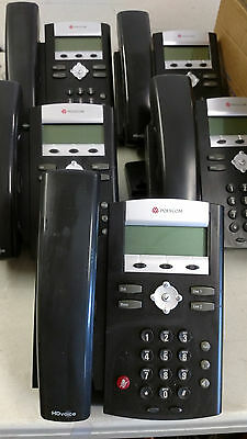 5- Polycom IP 335 VoIP SIP Phone 2200-12375-001 Tested and Reset POE