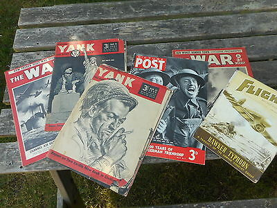 WW2 vintage Yank, War Week;y and other 1940s magazines