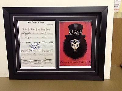 Slash Genuine Hand Signed/Autographed Songsheet with a Photo and COA