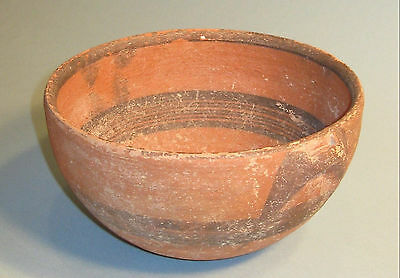 Cypriot Black on Red Ware Large Pottery Bowl 7th Century BC
