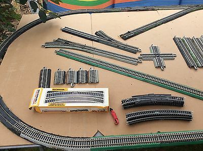 HO Gauge Job Lot Of Bachmann Track, points And Plug-in Wiring Lot 3