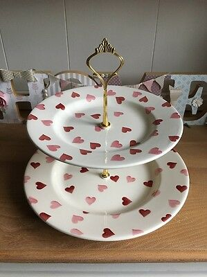 Emma Bridgewater Pink Hearts Two Tier Cake Stand
